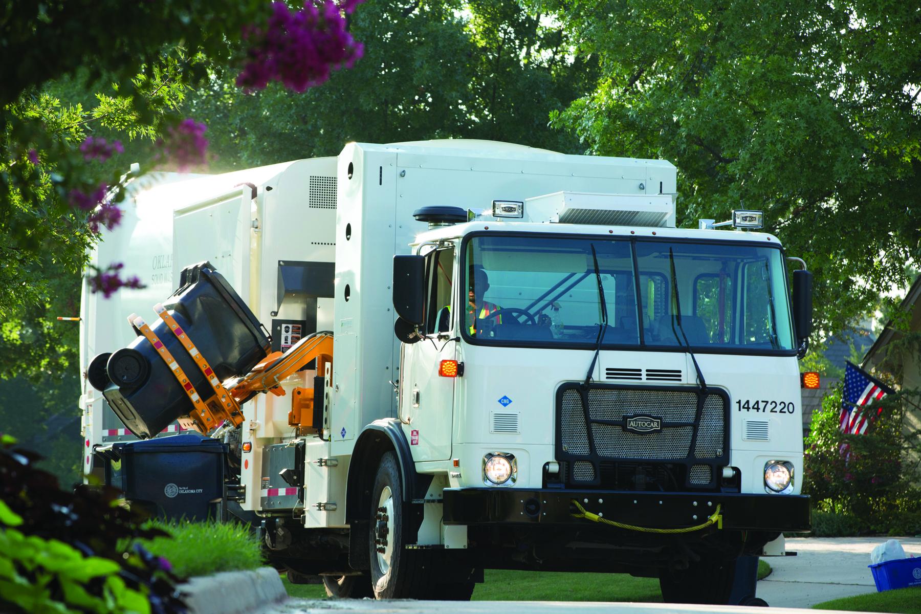 City of Oklahoma City trash truck