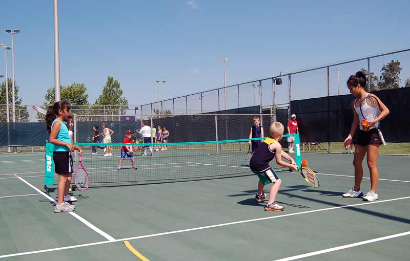 Youth lessons are popular at the Earlywine Tennis Center