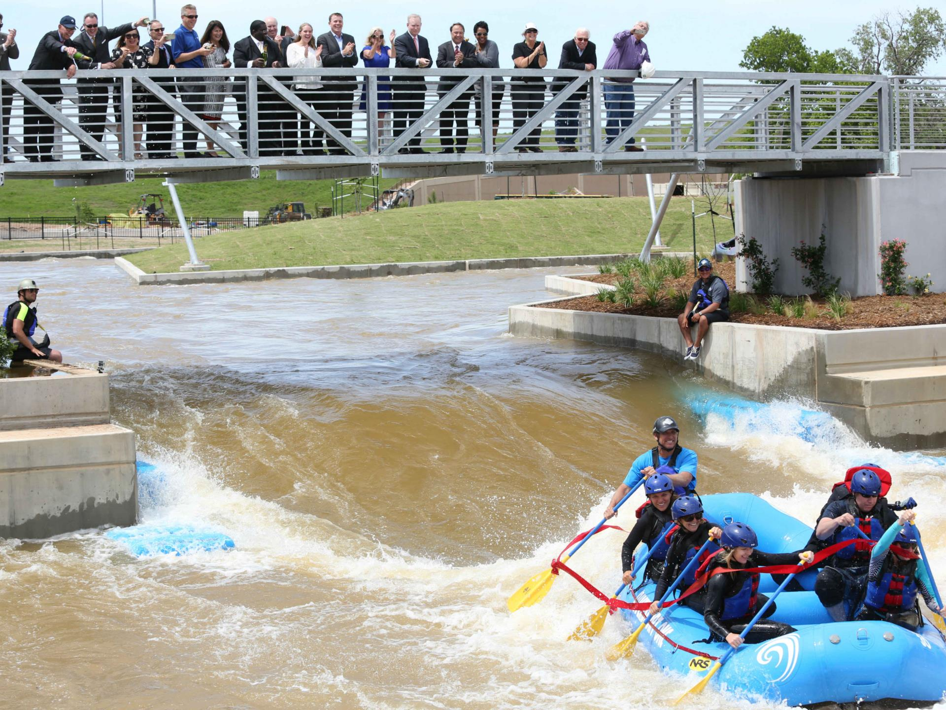 MAPS 3 RIVERSPORT Rapids ribbon cutting