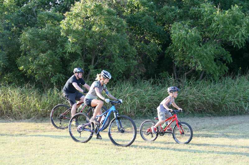 Families can enjoy off-road cycling in Oklahoma City