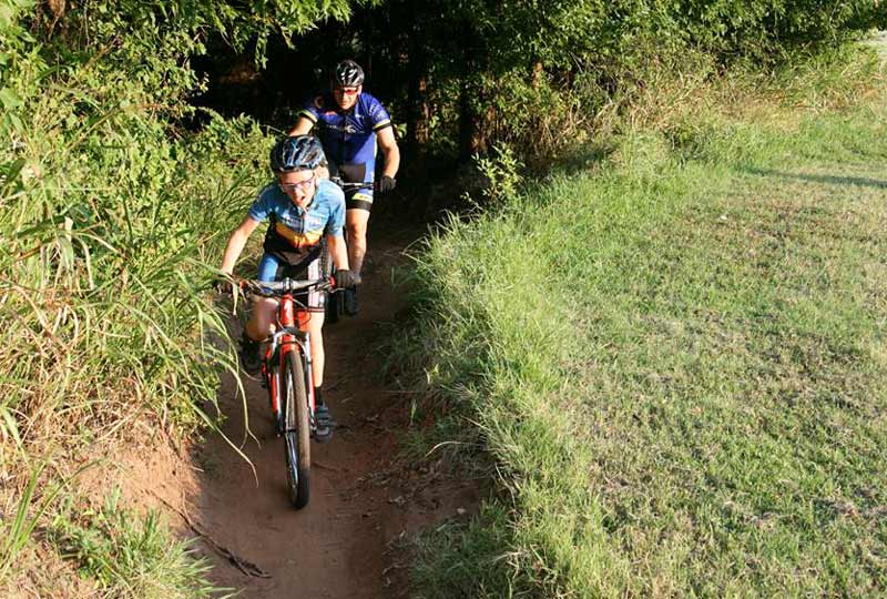 Riders of all ages can test their skills at the Bluff Creek Park trails