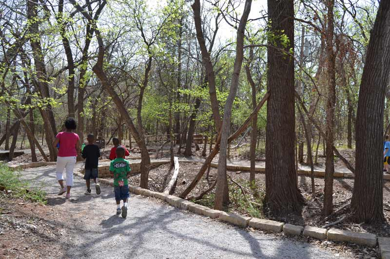 Families love the trails at Martin Park Nature Center