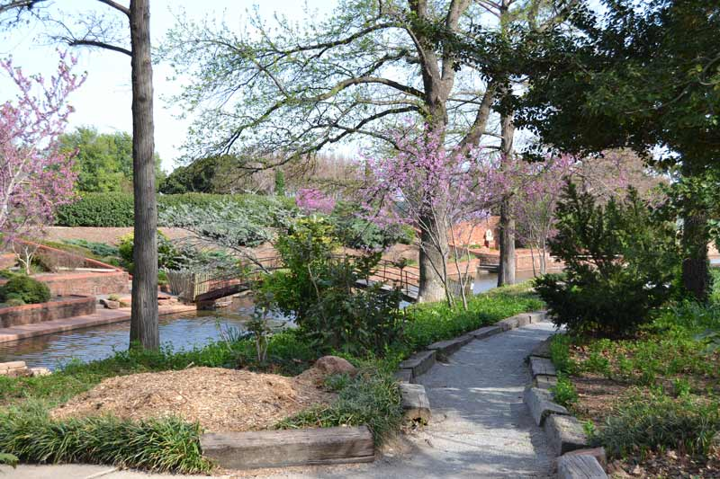 The Will Rogers Gardens provide a pristine get-away in a colorful garden setting.
