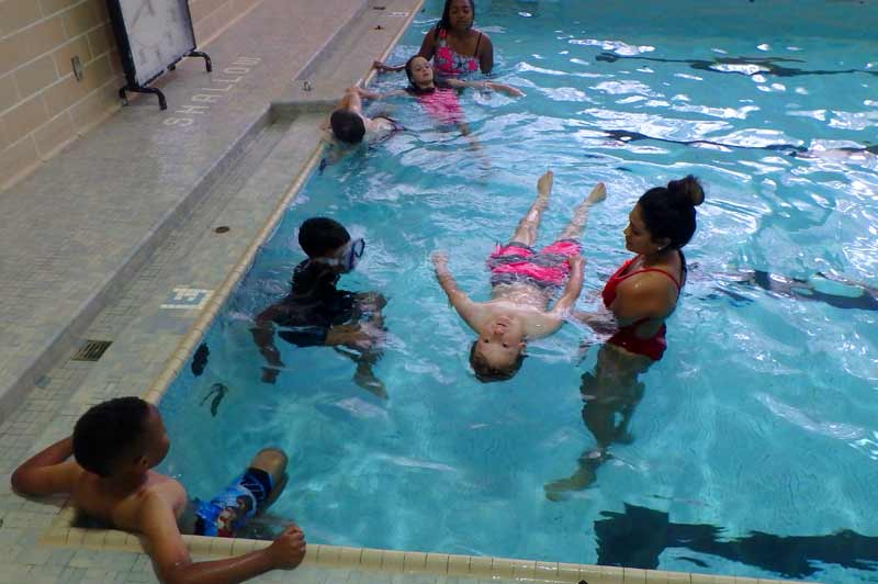 Lifeguards train at Foster Pool