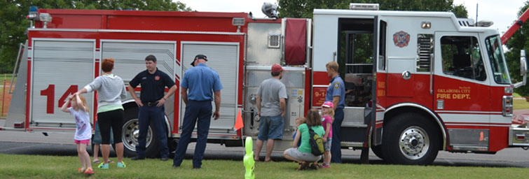 Children will learn about emergency safety from the OKC Fire Department during our Spring Break Prep Rally Camp