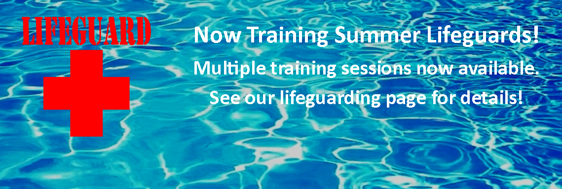 Now Training Lifeguards for Summer 2017 - Graphic