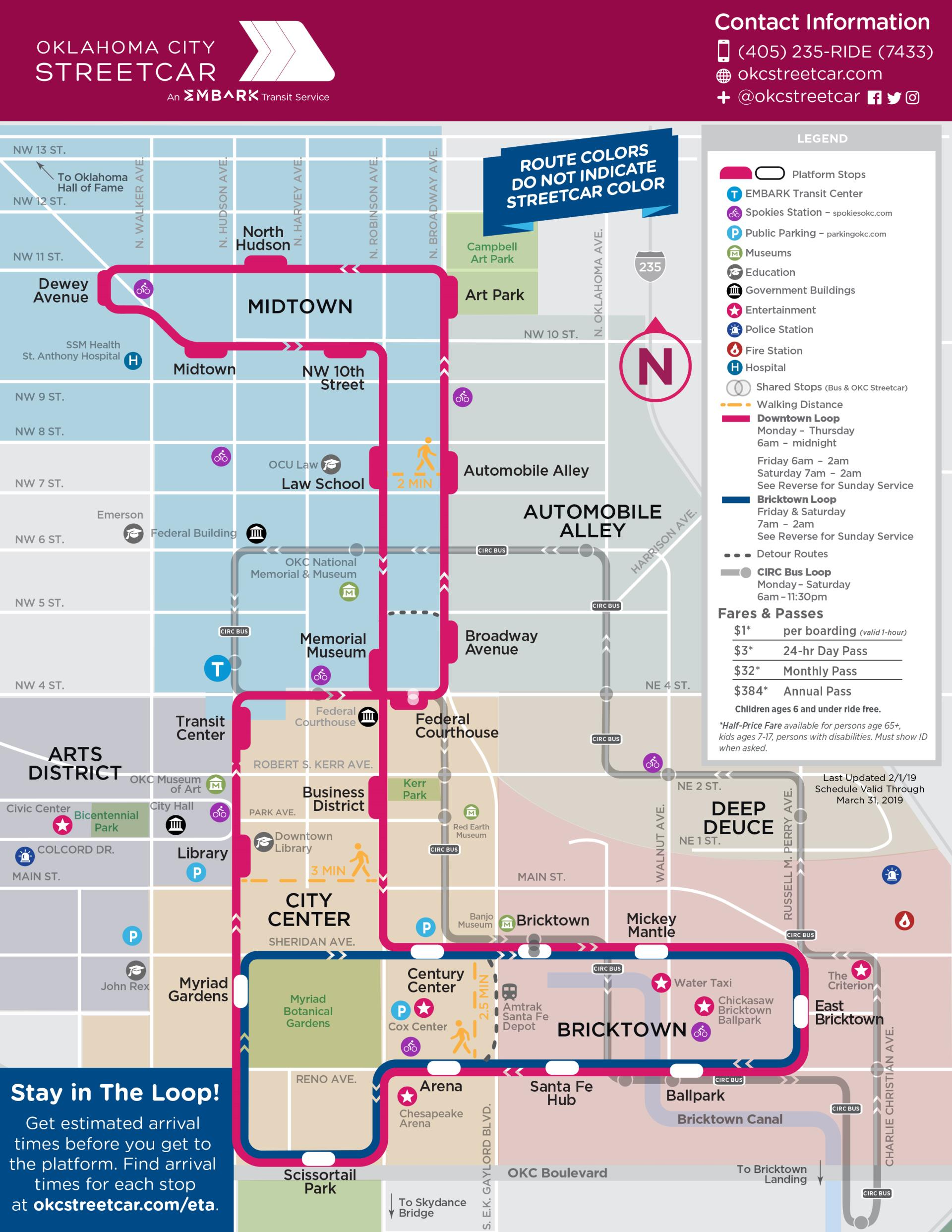 OKC Streetcar Route Map