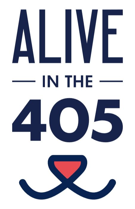 alive in the 405 logo