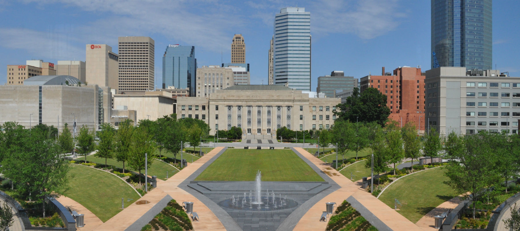 Bicentennial Park and Oklahoma City Hall