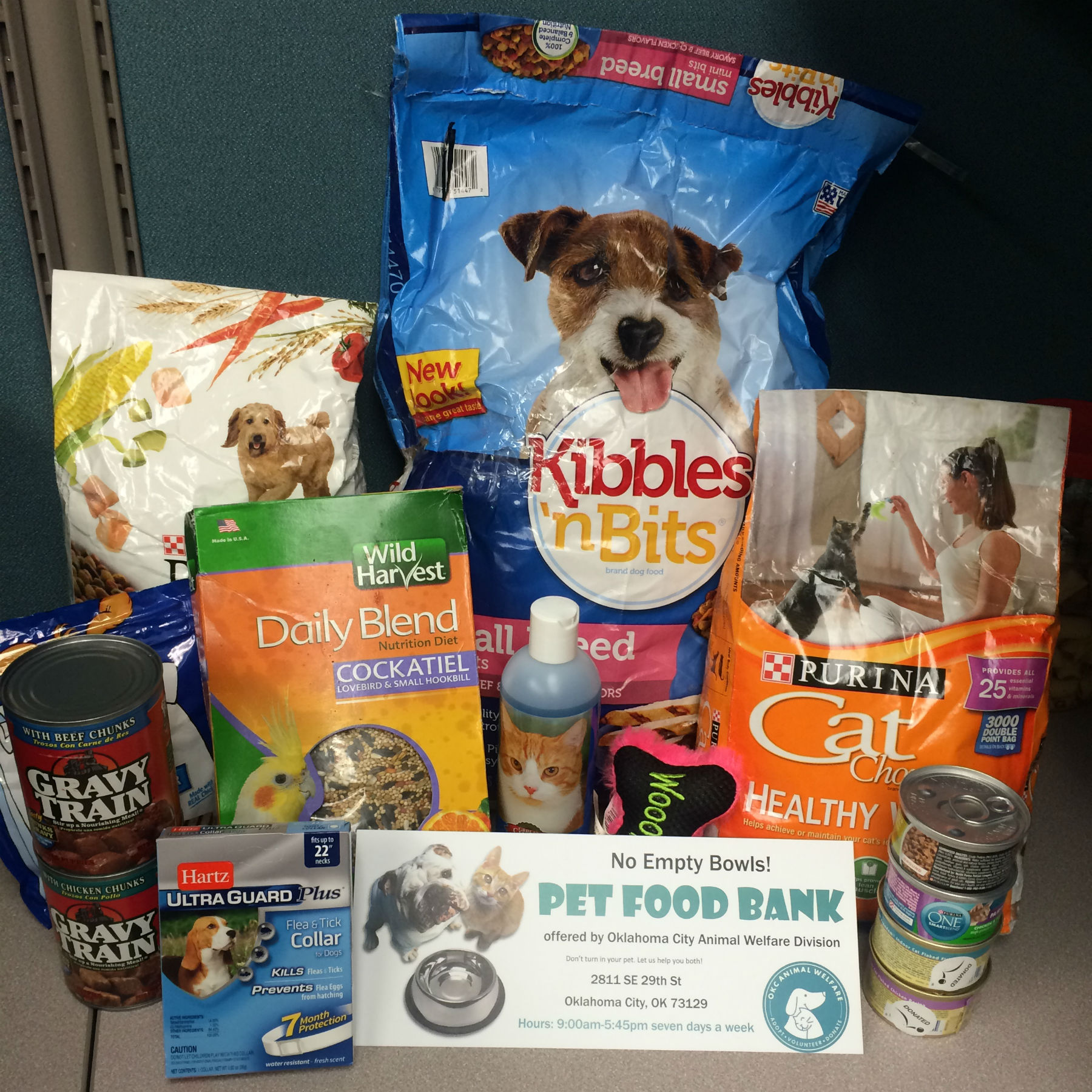 Free and low cost items donated to OKC Animal Welfare for use by people in need