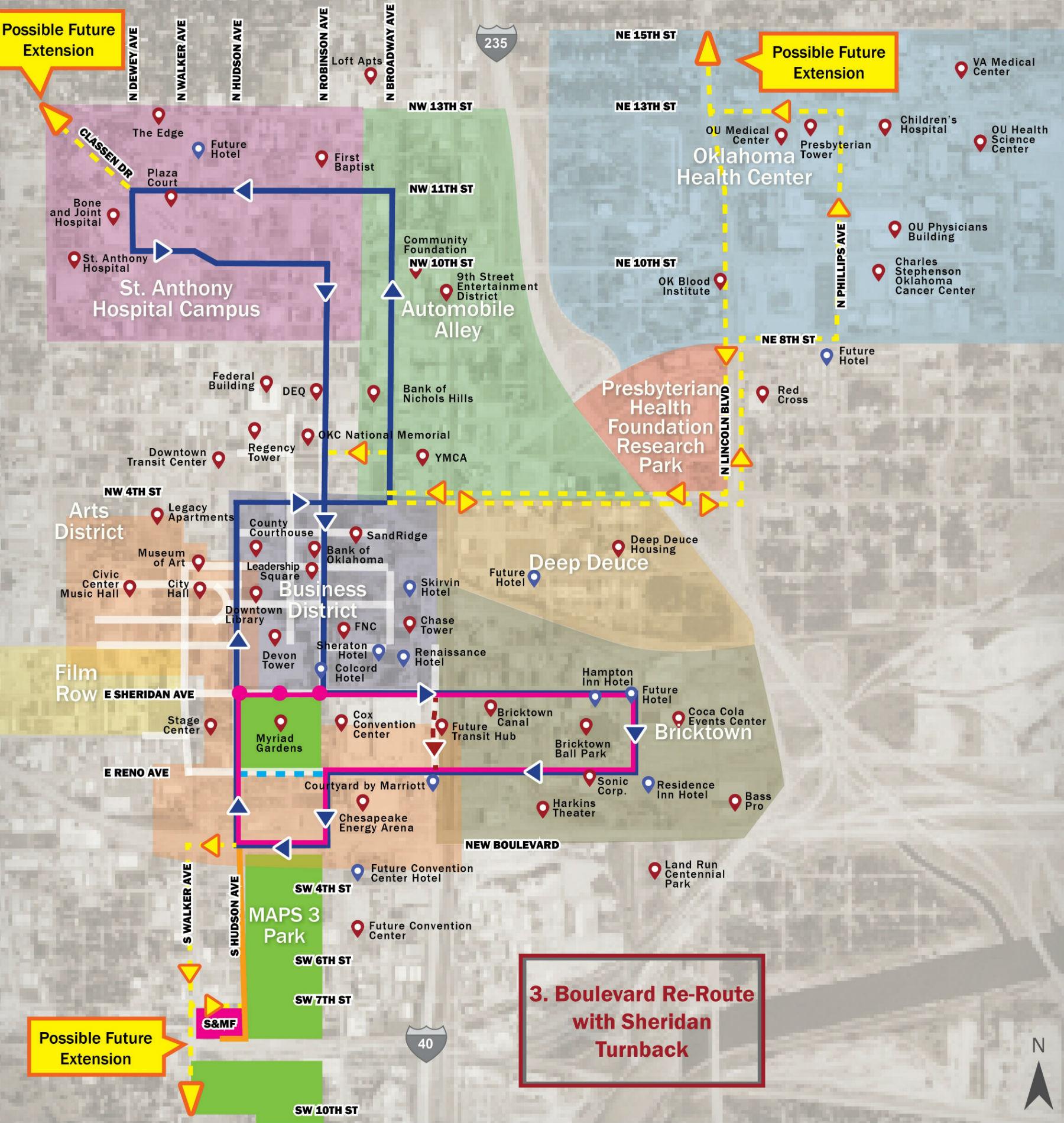 OKC Council approves new MAPS 3 Modern Streetcar routes | MAPS 3 ...