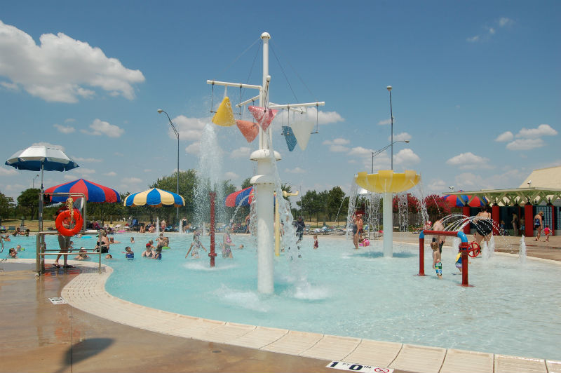 Spray toys are a popular feature at our family aquatic centers