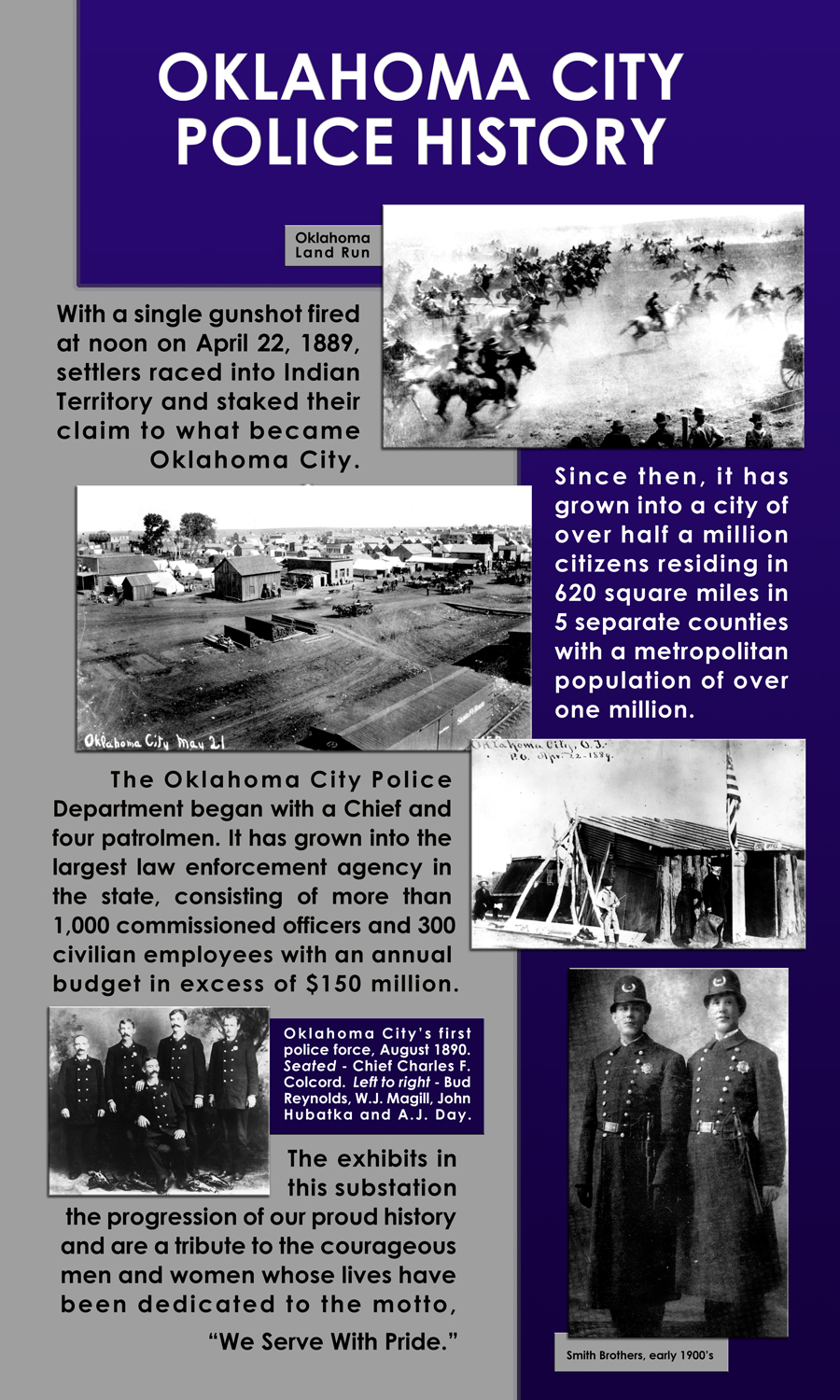 Information about OKCPD History