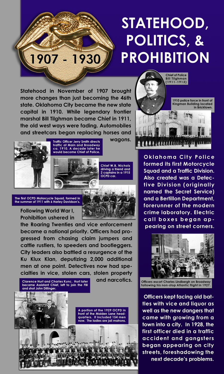 Information about the Statehood, Politics & Prohibition era
