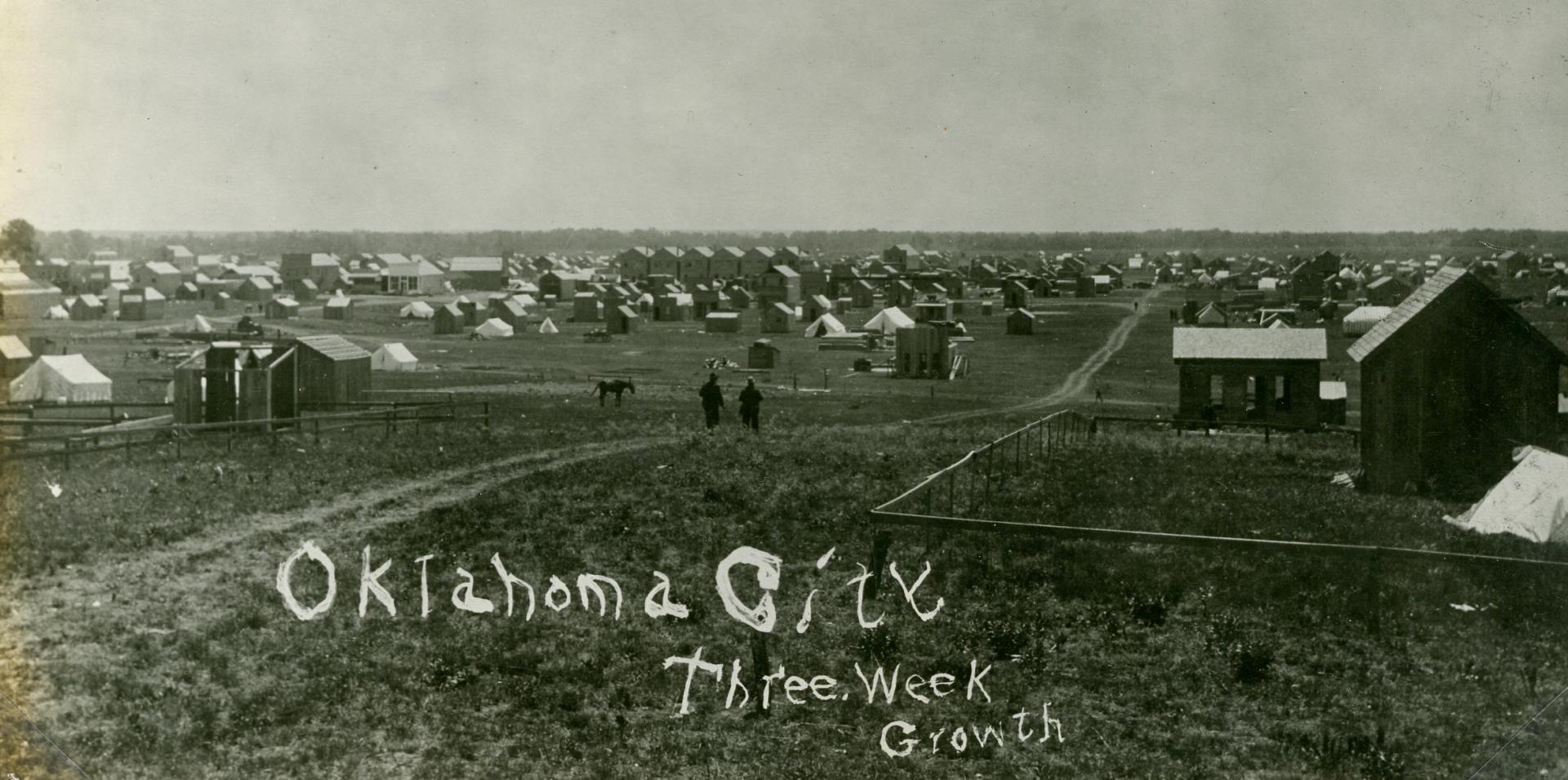 Oklahoma City three weeks after the land opening 1889