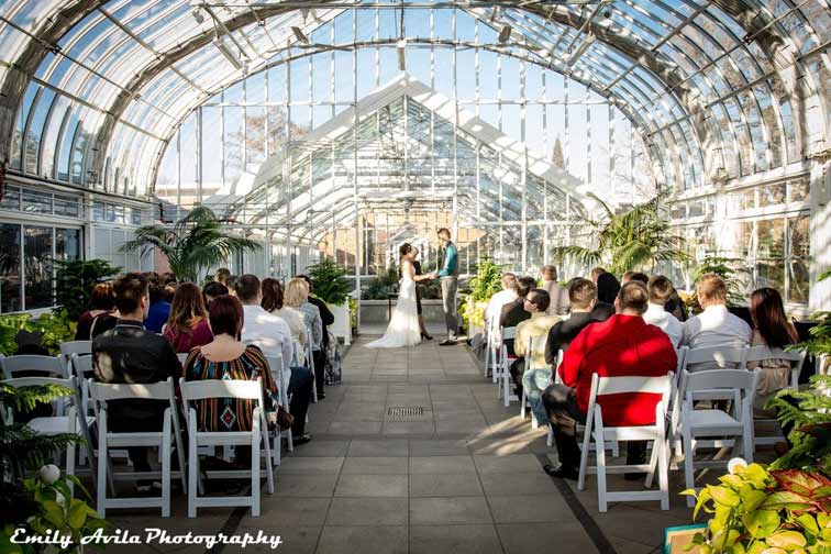 Wedding at Ed Lycan Conservatory