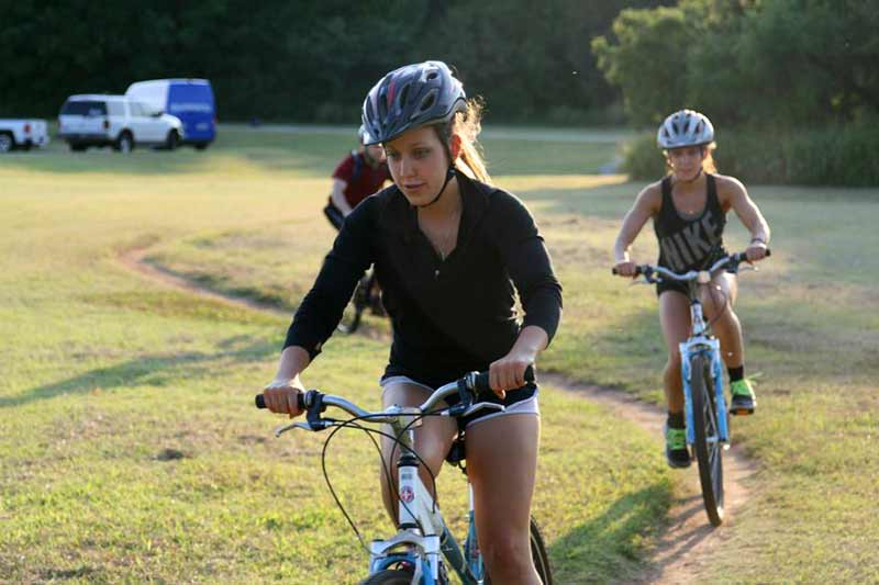 Just add helmet! Riders of all ages and abilities enjoy trail biking in Oklahoma City.