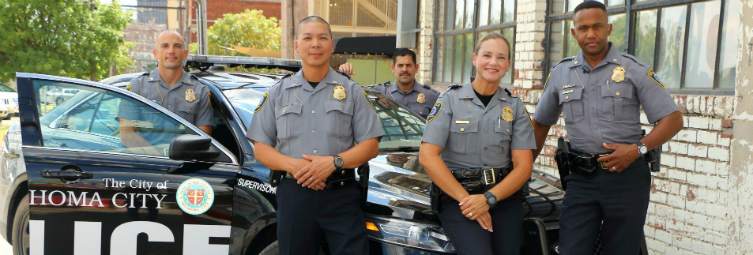 Officers in Bricktown