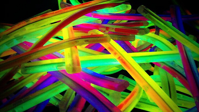 Glow sticks will light up the pool during our Halloween Teen Swim
