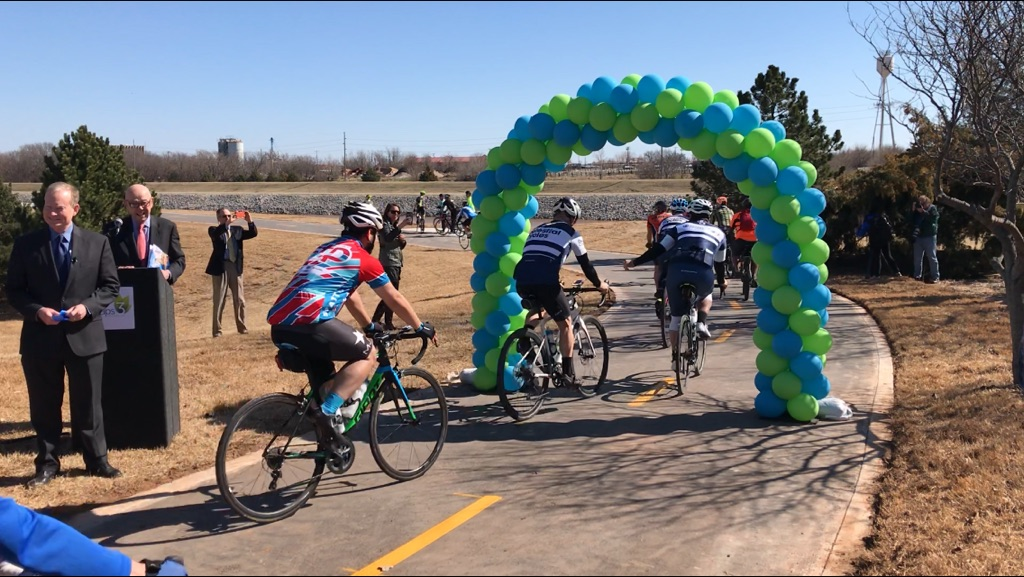 Will Rogers Trail ribbon cutting